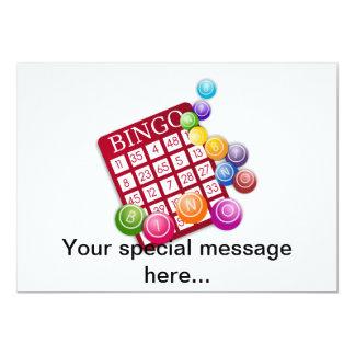 Juego del bingo invitación 12,7 x 17,8 cm