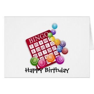 Juego del bingo tarjeta de felicitación