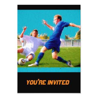 Juego del fútbol de los hombres invitación 12,7 x 17,8 cm