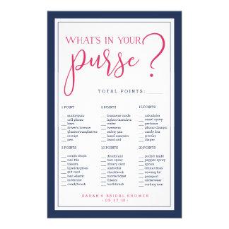 Juego del monedero del rosa y de la piña de la folleto 14 x 21,6 cm