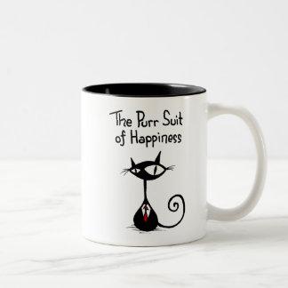 Juego del ronroneo de la taza de la felicidad