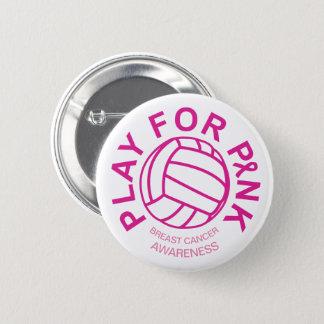 Juego del voleibol para el botón de la conciencia