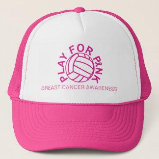 Juego del voleibol para el gorra de la conciencia
