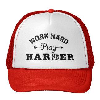 Juego duro del trabajo más duro gorros