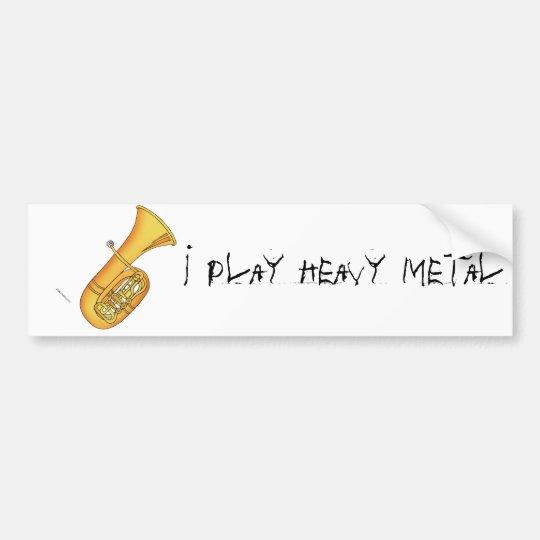 Juego el metal pesado pegatina para coche