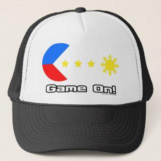 Juego en el casquillo gorra de camionero