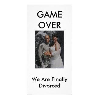 JUEGO ENCIMA, finalmente nos divorciamos Plantilla Para Tarjeta De Foto