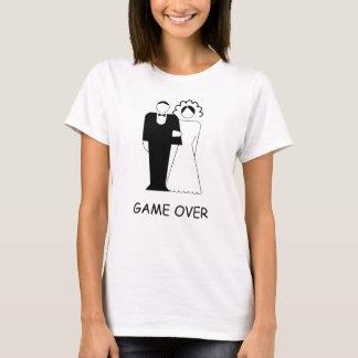 JUEGO ENCIMA para el fiesta de Bachelorette. Fondo Camiseta