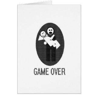 juego encima tarjeta de felicitación