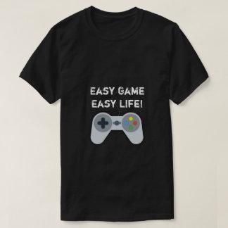 Juego fácil. Camiseta fácil del videojugador de la
