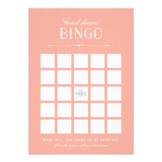 Juego nupcial de la ducha - bingo comunicados personalizados