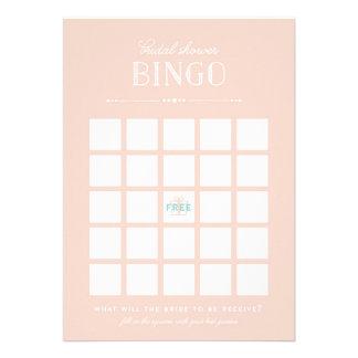 Juego nupcial de la ducha - bingo anuncios