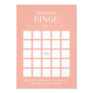 Juego nupcial de la ducha - bingo invitación 12,7 x 17,8 cm