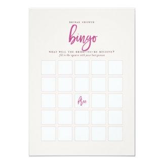 Juego nupcial de lujo rosado y púrpura del bingo invitación 12,7 x 17,8 cm