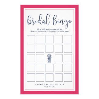 Juego nupcial del bingo de la ducha del rosa y de folleto 14 x 21,6 cm