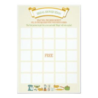 Juego nupcial del bingo de la ducha invitación 12,7 x 17,8 cm