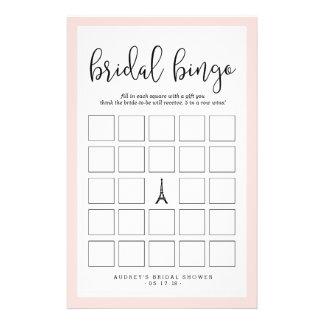 Juego nupcial romántico del bingo de la ducha de folleto 14 x 21,6 cm