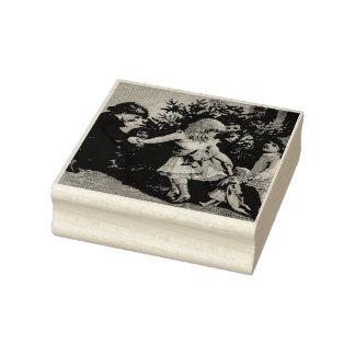 Juegos coloridos del navidad del vintage sello de caucho