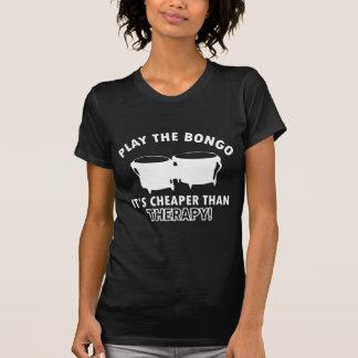 Juegue   el bongo camiseta