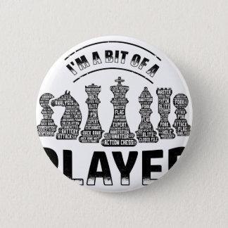 Jugador de ajedrez chapa redonda de 5 cm