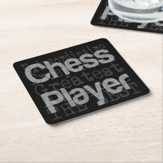 Jugador de ajedrez Extraordinaire Posavasos Cuadrado De Papel