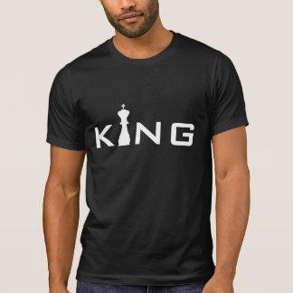 Jugador de ajedrez fresco de rey Typography Camiseta