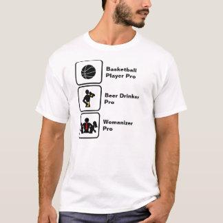Jugador de básquet, bebedor de cerveza, Womanizer Camiseta
