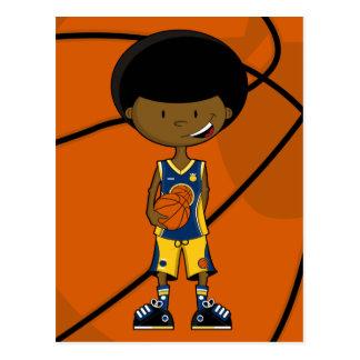 Jugador de básquet con la postal del Afro