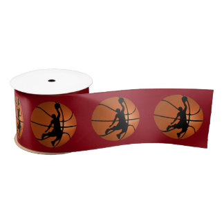 Jugador de básquet de la clavada en baloncesto lazo de raso