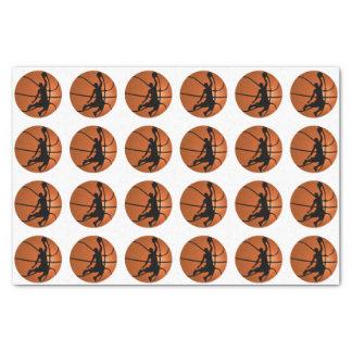 Jugador de básquet de la clavada en baloncesto papel de seda pequeño