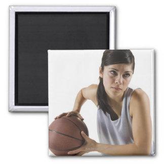Jugador de básquet de sexo femenino imanes