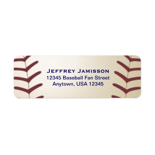 Jugador de béisbol, etiqueta del nombre y