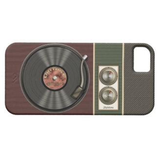 Jugador de disco de vinilo divertido del vintage iPhone 5 Case-Mate funda