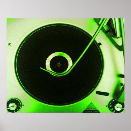 Jugador de disco de vinilo retro del vintage p ster zazzle - Posters de vinilo ...