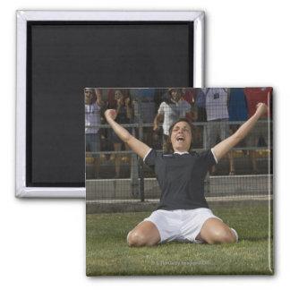 Jugador de fútbol de sexo femenino alemán que imán