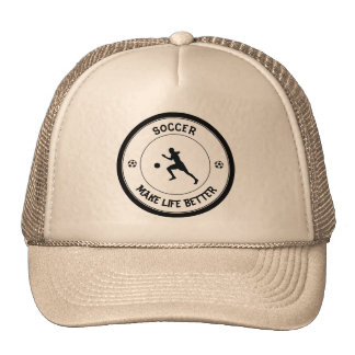 Jugador de fútbol gorras de camionero