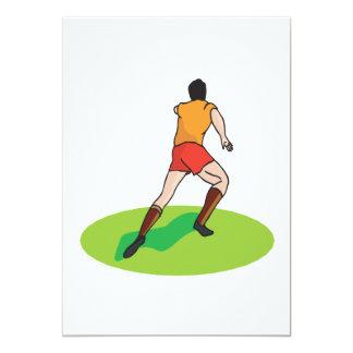 Jugador de fútbol invitacion personalizada