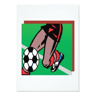 Jugador de fútbol invitación 12,7 x 17,8 cm