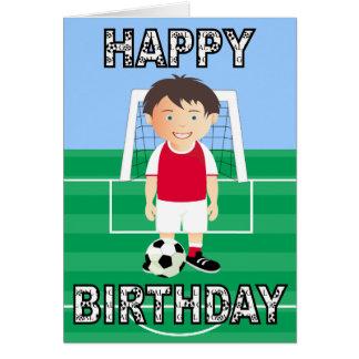 Jugador de fútbol lindo tarjeta de felicitación