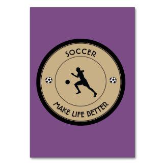 Jugador de fútbol tarjeta