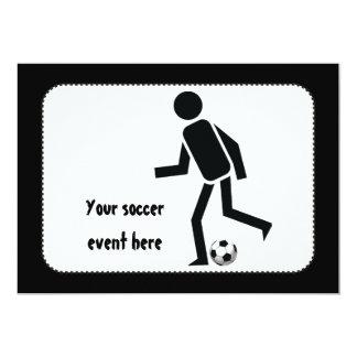 Jugador de fútbol y regalo del personalizado de la invitación 12,7 x 17,8 cm
