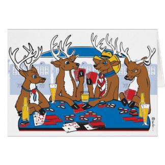 Jugador de póker de la despedida de soltero tarjeta de felicitación