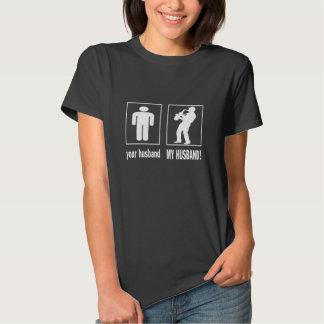 Jugador de saxofón - mi marido camiseta