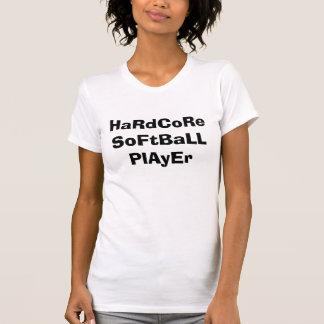 Jugador de softball incondicional camisetas