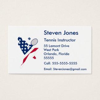 Jugador del americano del tenis de los E.E.U.U. Tarjeta De Visita