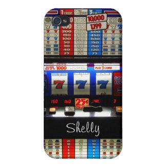 Jugador del casino de Las Vegas con nombre del gra iPhone 4 Carcasa