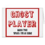 jugador del fantasma del bunco felicitación