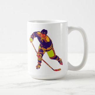 Jugador del hockey sobre hielo (multicolor), taza