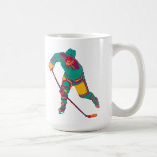 Jugador del hockey sobre hielo (trullo), taza