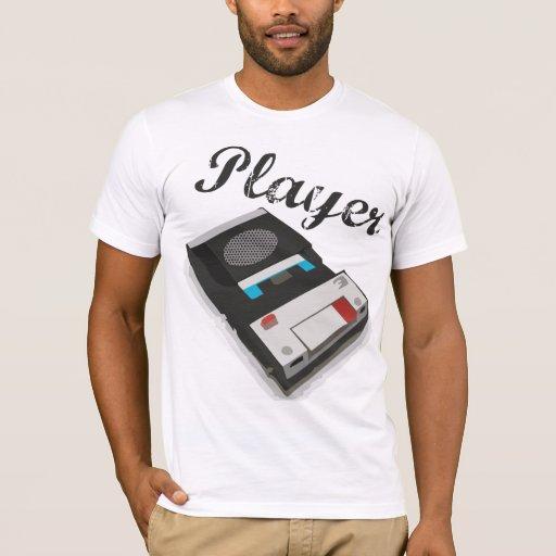 Jugador del vintage camiseta